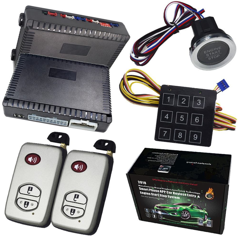 pke auto lock unlock 12v cars push start stop remote start stop car alarm good quality easyguard pke car alarm system remote lock unlock shock alarm remote engine start stop push button start stop