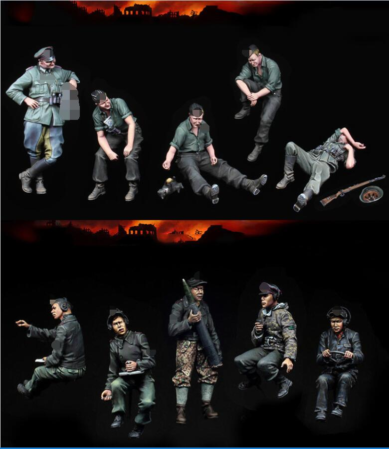1/35 Ancient Sit 1943 Soldier Include 10   Man Resin Model Miniature Gk Unassembly Unpainted