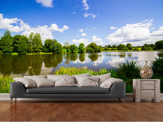 Buy custom natural wallpaper lush nature for 3d photo wallpaper for living room