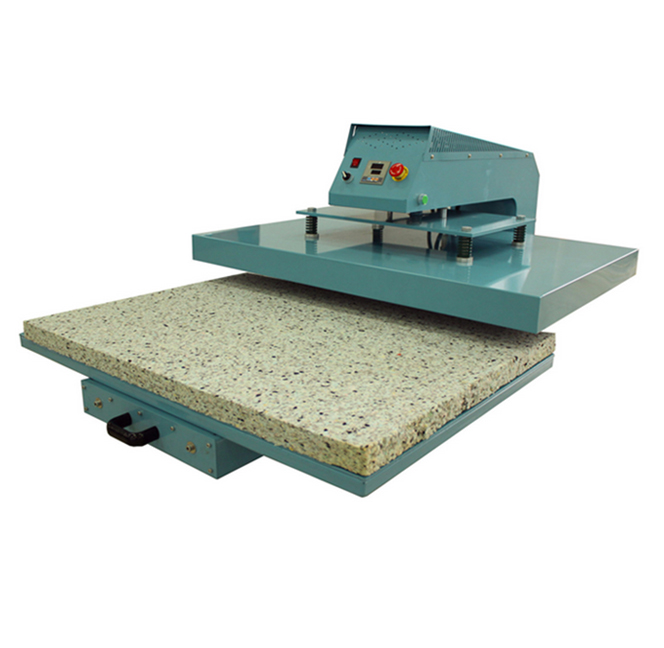 Automatic Large Format Pneumatic Double Press Button Sublimation Fabric Heat Press Machine 38*38cm cheap manual swing away heat press machine for flatbed print 38 38cm