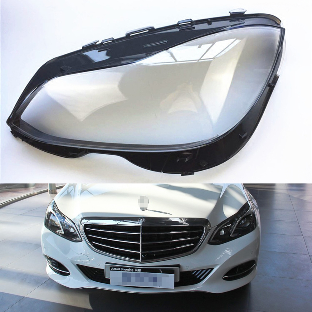 For Mercedes-Benz <font><b>W212</b></font> E200L E260L E280L E300L E350L 2014 2015 Car <font><b>Headlight</b></font> Headlamp Clear Lens Auto Shell Cover image