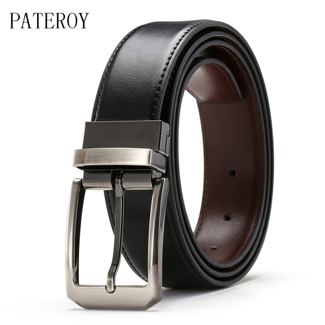 Cinturón Reversible de lujo Para Hombre Cinto Cinturones de cuero genuino Para Hombre Riem Ceinture Homme Cinturones Para Hombre Kemer