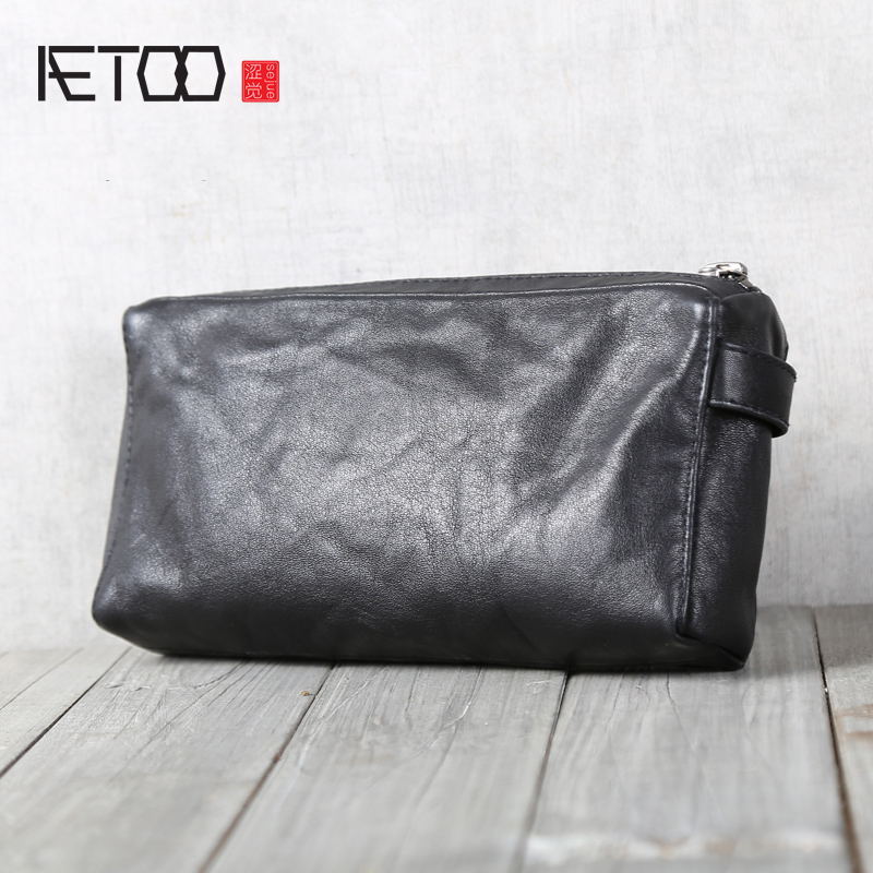 AETOO Head-layer cowhide wallet leather small hand bagAETOO Head-layer cowhide wallet leather small hand bag