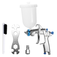 Professional Stainless Steel DIY Air Spray Gun Machine Hand Manual Spraying Painting Tool with Gravitational Feed Fluid Cup