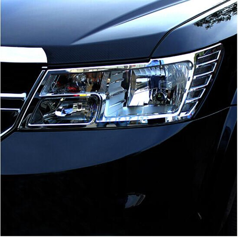Accessories For Dodge Journey JUCV Fiat Freemont 2013 2014 2015 2016 Taillight Cover Headlight Light Trim