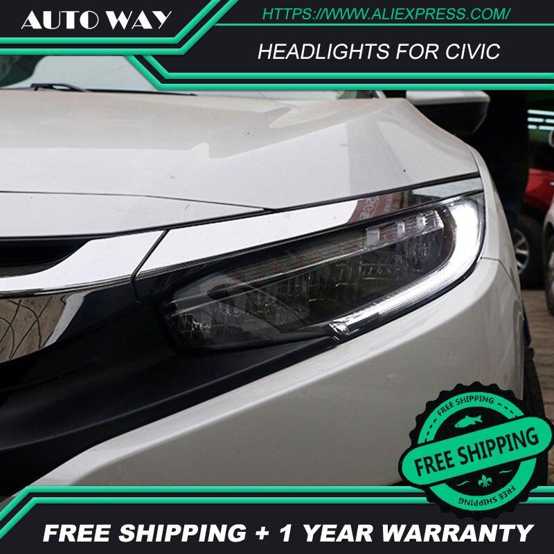 Car Styling Tail Lights Case For Honda CIVIC X G10 MK10 Bugatti Headlights LED Headlight Running Lights All LED Rear Lamp