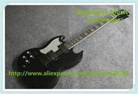 Высокое качество глянцевый черный SG Стандартный гитара левша Тони Lommi SG Электрический Гитары же как на картинке
