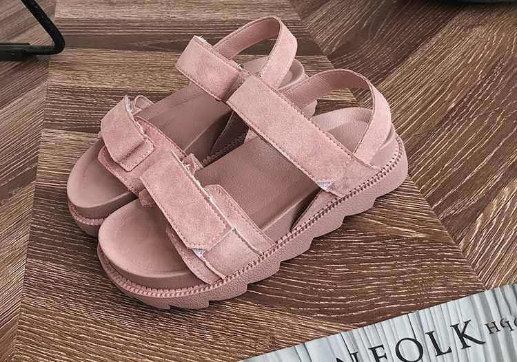Women shoes adult solid sandals women 2019 fashion med heel height women sandals flat with casual shoes woman sandals female  (4)