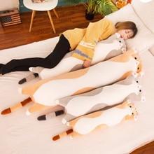 50-110cm long Cat Pillow Stuffed Plush Cat Toy Soft Cushion Stuffed Animal Cats Pillow Kids Sleeping Kawaii Lovely Gifts For Kid