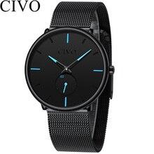 CIVO Mens Sports Quartz Watch Waterproof Slim Mesh Casual Watches Strap Minimalist Simple Wristwatches Clock Relogio Masculino