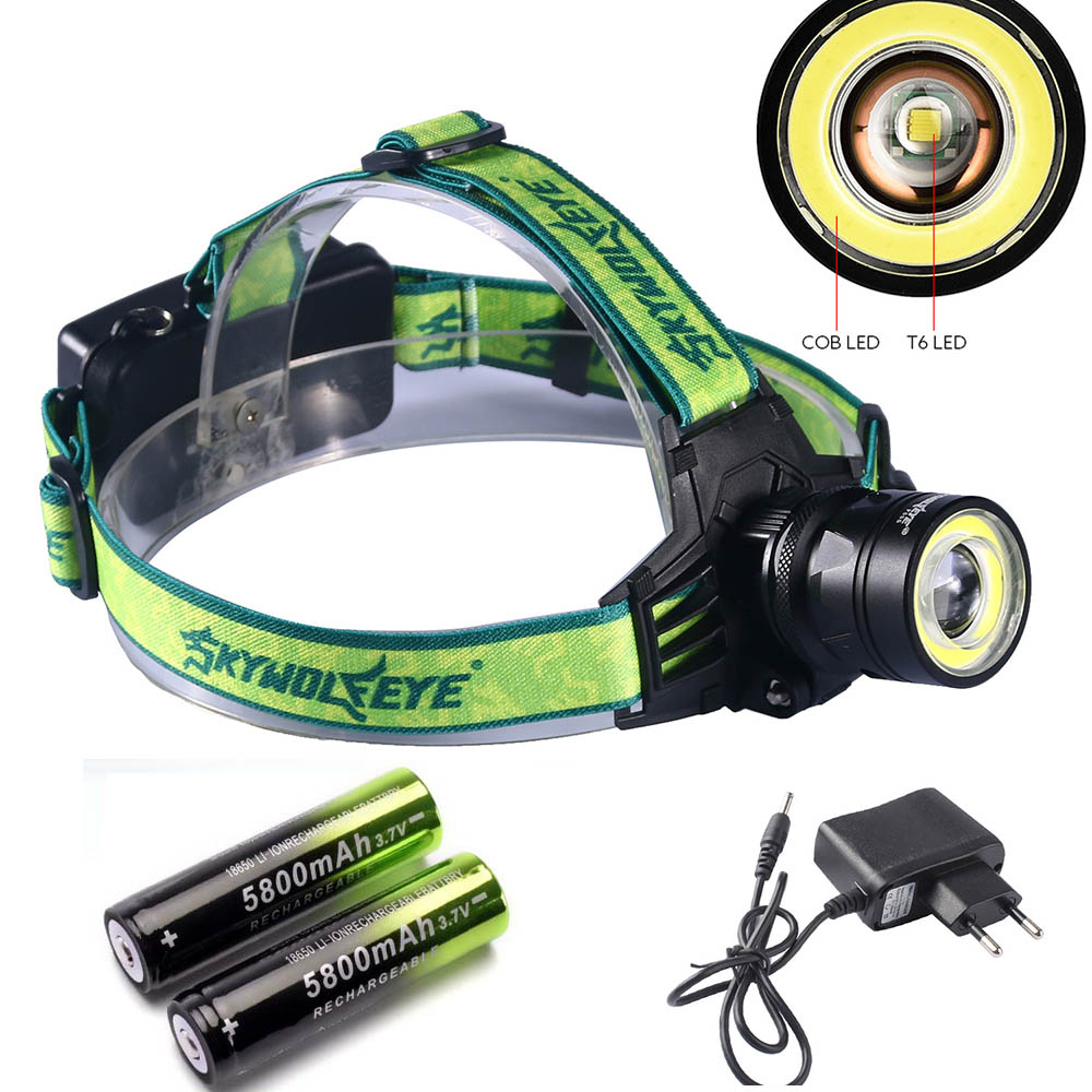 10000 Lumens LED Headlamp 4 Modes Zoomable LED Headlight Camping Head Torch XM-L T6+COB LED Hunting Head Lights+2*18650+Charger 10000 Lumens LED Headlamp 4 Modes Zoomable LED Headlight Camping Head Torch XM-L T6+COB LED Hunting Head Lights+2*18650+Charger