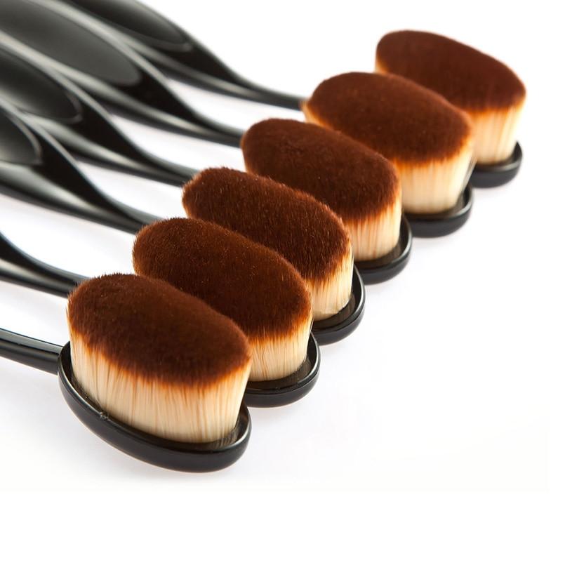 HUAMINALI 1pcs Toothbrush Foundation Makeup Brush Cosmetic Face Powder Brush Toothbrush Make Up Tool Synthetic Hair Maquiagem