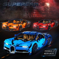 Lepin 20086 Building Blocks Technic 911 GT3 RS Super Sports Car Toy Model, Collectible Building Set Walkie Talkie