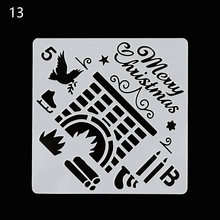 Christmas House Layering Stencils For Walls Painting Scrapbooking Stamp Album Decor Embossing Paper Card Template #13(China)