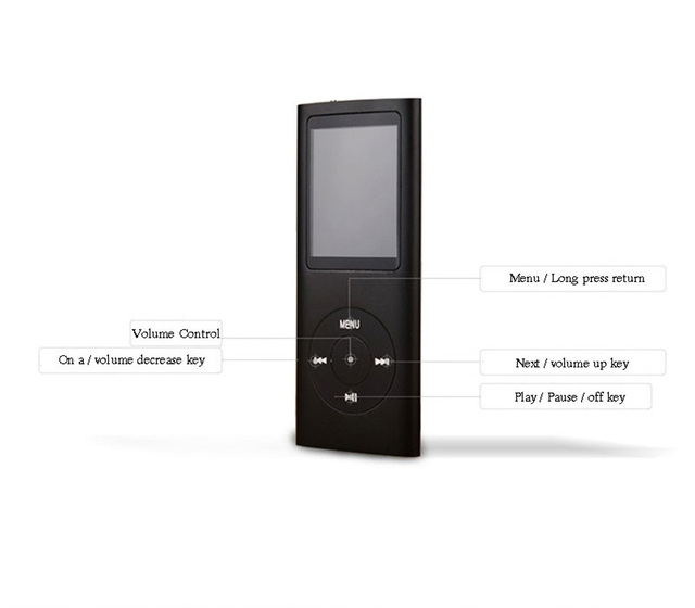 SONGKU 4TH GEN 1.8 Inch Screen Real 16GB 32GB Built-in Memory Mp3 Music Player With FM Radio E-book MP3 Player