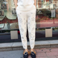 2016 Pantalones Mujer Lulu Leggings Wool Hot 2017 New Knit Pants Sequins Embroidered Snowflakes Leisure Woman Thickening Warm