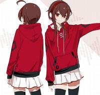 Yuezheng Ling Hot Anime Cosplay Jacket vocaloid miku 3D Printed costume red Hoodie jacket coat