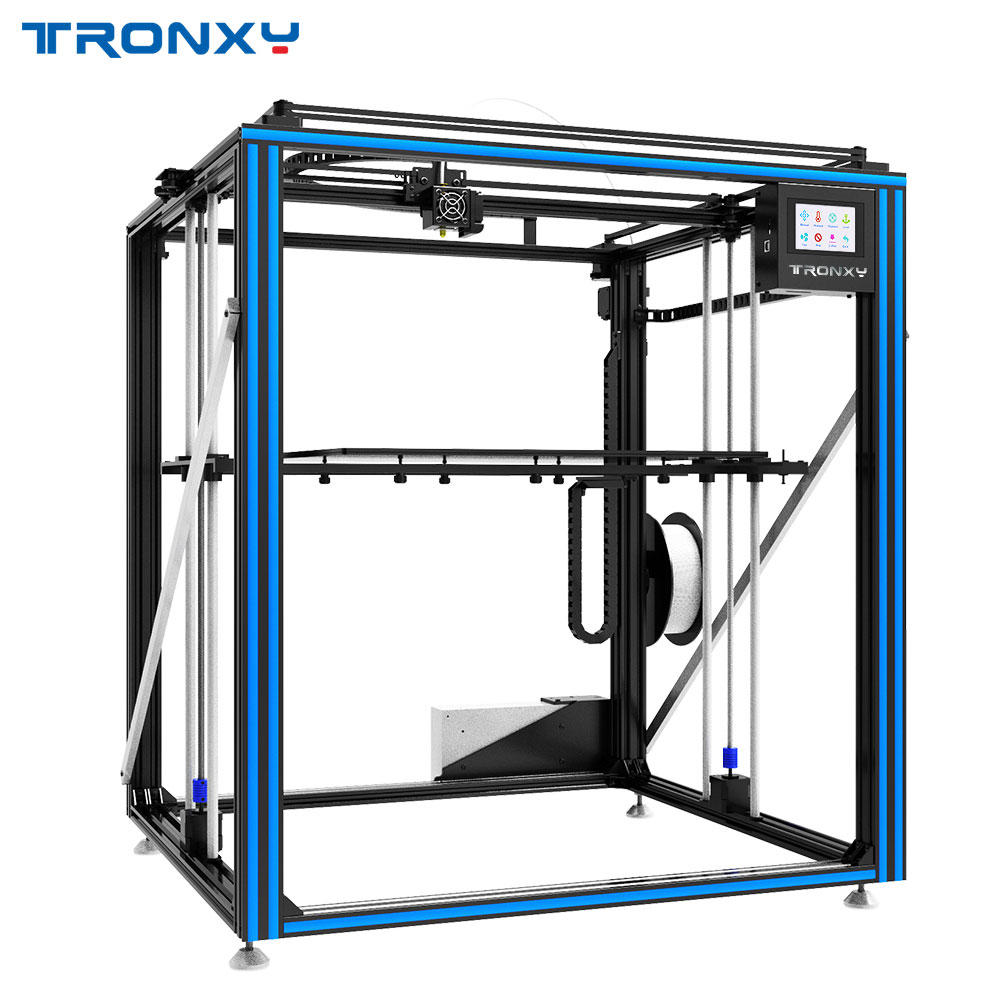 Vendita calda Tronxy X5ST-500-2E Ciclope 3D Stampante 2 In 1 Fuori Il Grande Formato Focolaio Doppio Estrusore Motore