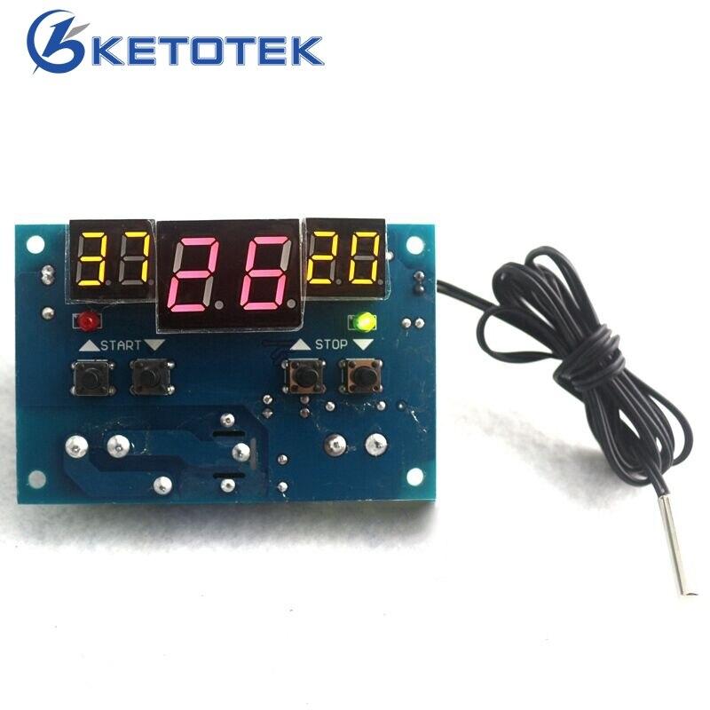 DC12V Intelligent Digital Thermostat Temperature Controller Regulator with NTC Sensor W1401 Termostato