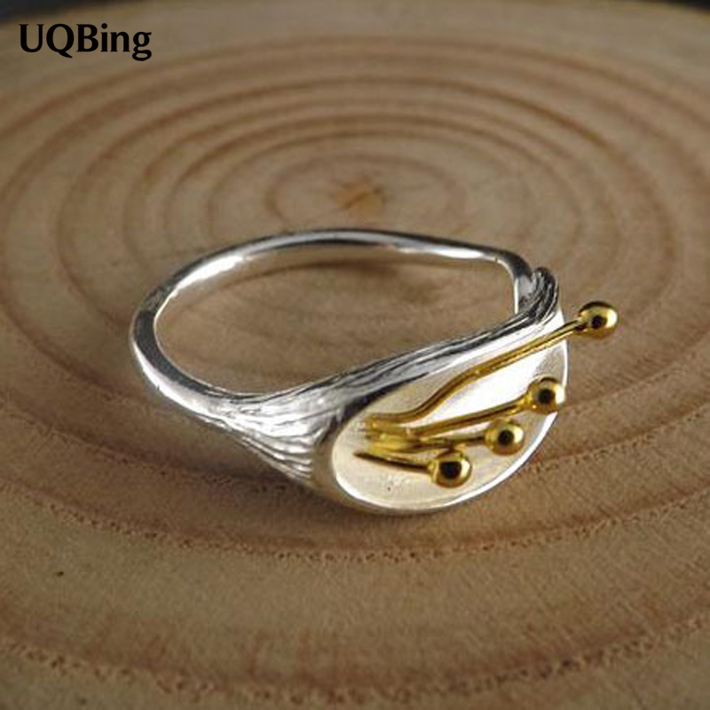 Free Shipping 925 Sterling Silver Ring Fine Fashion Flower