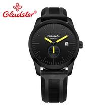 Gladster Япония MIYOTA GP11 спортивный силиконовый ремешок кварцевые наручные часы светящиеся аналоговые Мужские часы Водонепроницаемый Дисплей Дата мужские часы