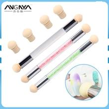 1Pcs Nail Sponge Brush UV Gel Painting Nail Gradient Shading Pen Nail Art Sponge Brush with