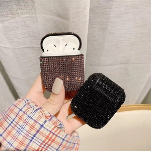 Image 3 - Glitter Sequins Bag Case For Apple Airpods Bluetooth Wireless Earphone Bling Rhinestone Case For AirPods Cover Charging Box Case