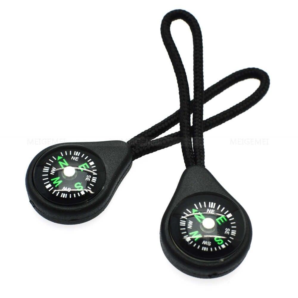 1 unidades/pacote Compass Zipper Pull Com Alça Para Backpack Academia Suit Vestuário Acessórios Preto Frete Grátis