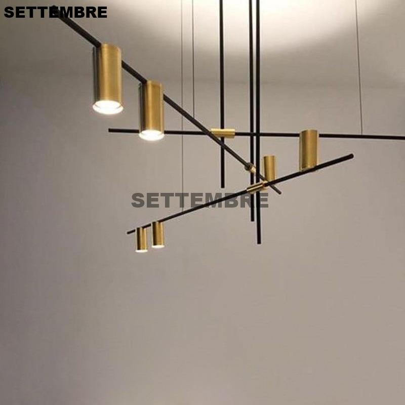 SETTEMBRE Living Room Hanging Lamp Restaurant Lighting Designer Simple Lines Decorations Loft Duplex Lights Branch Hanging Lamp