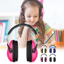 PVC+Sponge Adjustable Kids Child Baby Earmuffs Hearing Protection Ear Defenders Noise Reduction Safety Yellow/Blue/Pink/Black
