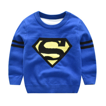 2018 Autumn Winter New Children's Sweater Superman Boys Sweater Kids-pullover Baby Boy Knitted Sweaters