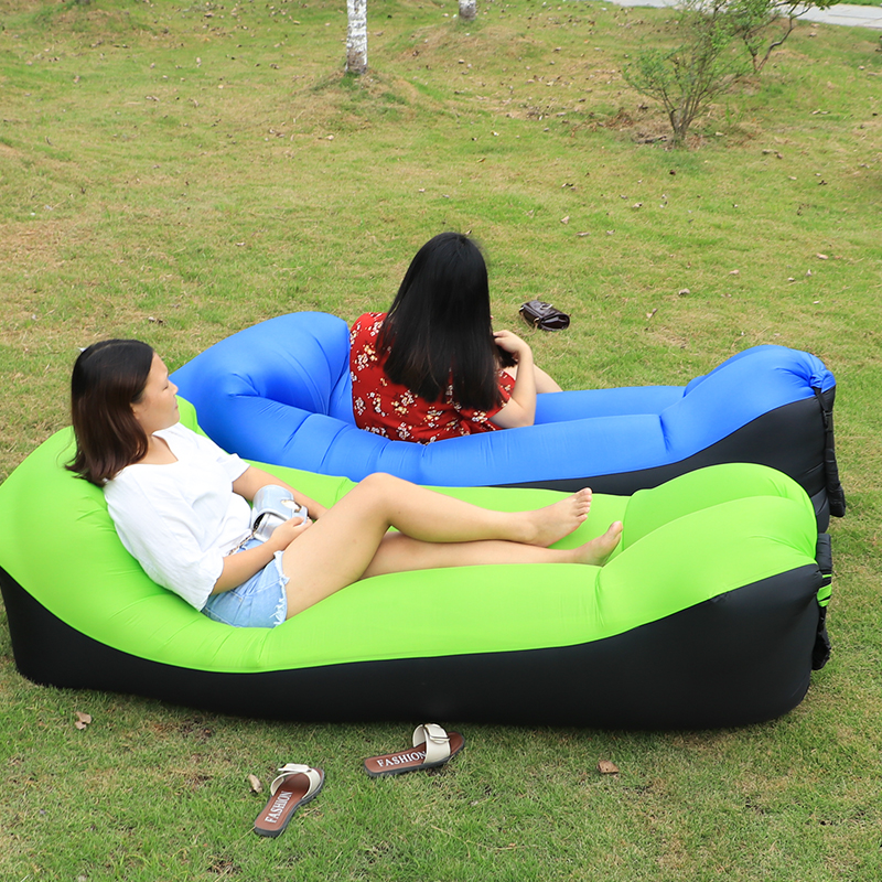 Camping Mat Lazy Bag Lounger Outdoor Camping Mat Waterproof Picnic Mat Beach Inflatable Air Sofa Bed Beanbag Pad Lounge Chair