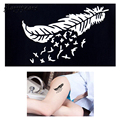 1 Piece Body Paint Henna Tattoo Stencil Feather Drawing Design Beauty Women Feet Hand Art Henna Template Tattoo Sticker Gift G86