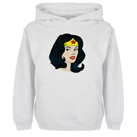 DC Diana Prince Wonder Woman Stars Head Portrait Hoodies Women Girl Men Boy Sweatshirt American Indian