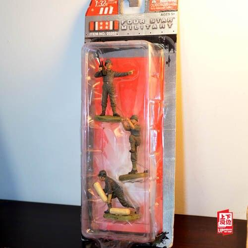 mini 1:32 WWII US Soldier box  set