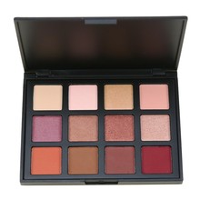 12 Colors Shimmer Nature Glow Eyeshadow Palette Balm Makeup Cosmetics Nude Eye Shadow powder Naked Waterproof Set 12K