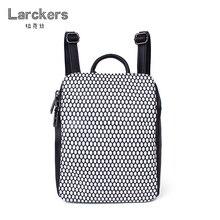 2017 мода геометрический узор Черный и белый цвета PU женщин рюкзак личность улица свободный стиль мини туристические рюкзаки портфель