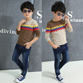 2016 New Brand spring, autumn Boys Fashion Sweater Pullover Children Long-Sleeve Wool Knitwear Baby Jacket Sweater Kids Clothes