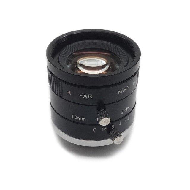 Industrial Style Len 2 3 f1 4 aperture c mount 16mm focal length industrial vision