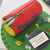Zipper liquid silicone mold DIY sugar cake baking mold M193