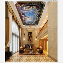 Customized photo wallpaper 3d ceiling murals  Renaissance church hall zenith Ceiling wall paper home decoration