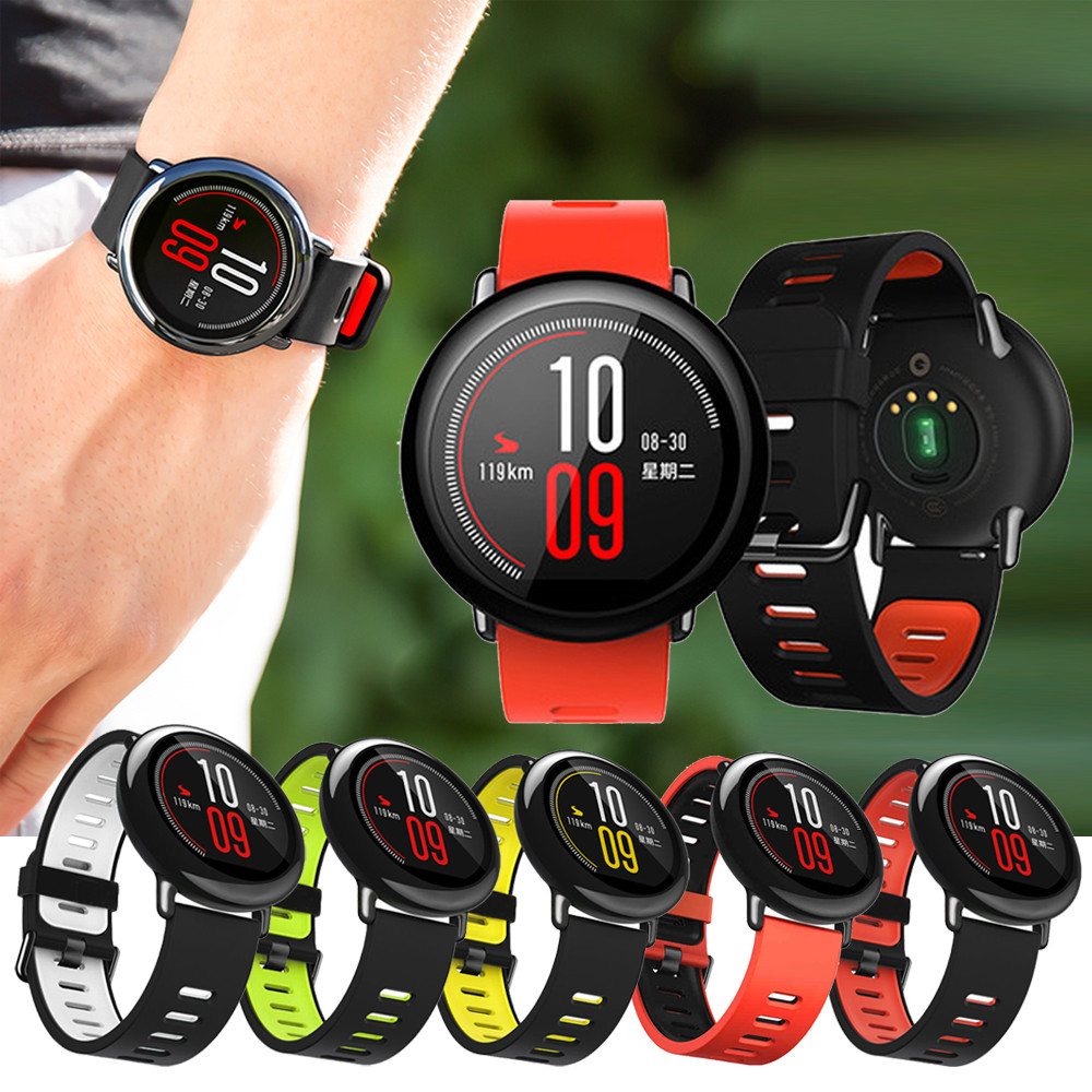 Watch Band 2017 New Fashion Sports Silicone Bracelet Strap Band For Xiaomi Huami Amazfit A1602 Specially Design Soft band eache silicone watch band strap replacement watch band can fit for swatch 17mm 19mm men women