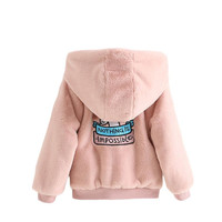 LILIGIRL Kids Plus Velvet Thick Faux Fur Jacket Coat for Baby Girls Unicorn Cartoon Tops Clothes 2019 Boys Hooded Plush Outwear