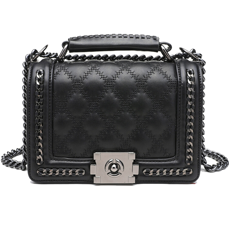 Fashion Chain Shoulder Bag Diamond Embroidery Women Bag PU Luxury Handbags Women evening party Bags Designer Crossbody Bags