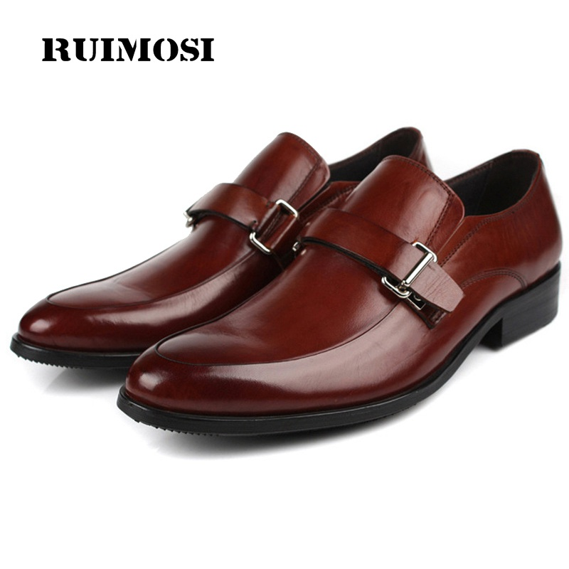 RUIMOSI Hot Sales Round Toe Man Formal Casual Shoes Genuine Leather Male Loafers Designer Brand Men's Comfortable Footwear GK54