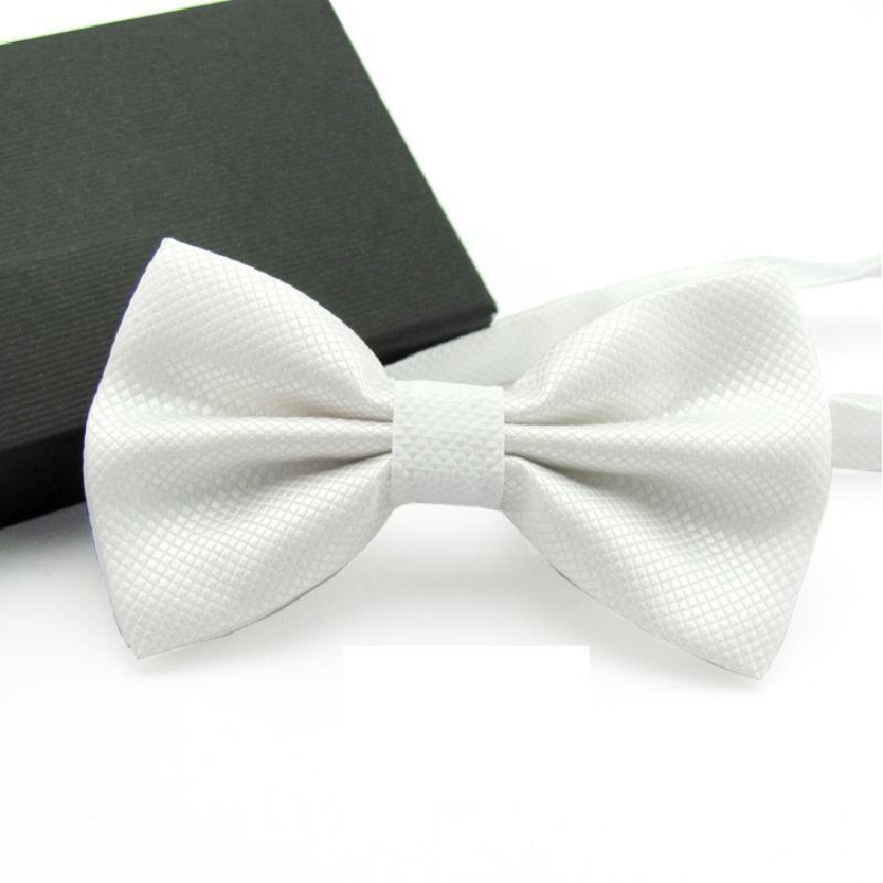 2019 Solid Color Bowtie Men Bow Tie Fashion Butterflies White Black Blue