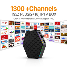 Europa Arabo Francese Canale IPTV Sky SI DE UK Android 6.0 TV Box S912 T95ZPLUS Supporto Sport Canal Più Francese Iptv Set Top Box