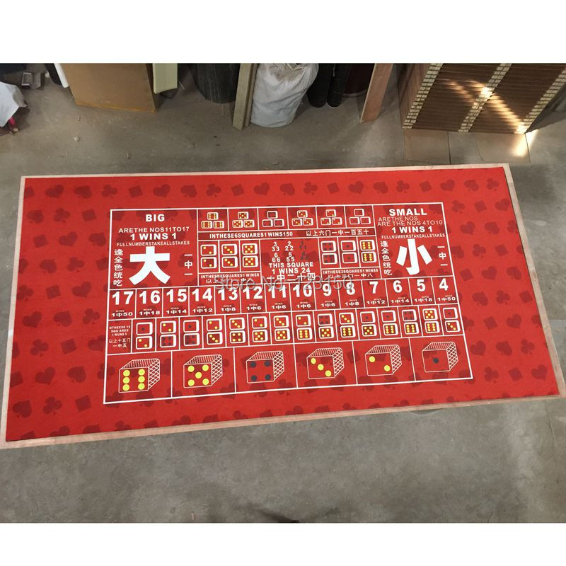 WP-105  Big Small Game Poker Table Cloth,  Casino Layout Game Cloth 1PC wp 001 professional water resistant poker table cloth casino layout game cloth