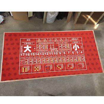 WP-105  Big Small Game Poker Table Cloth,  Casino Layout Game Cloth 1PC