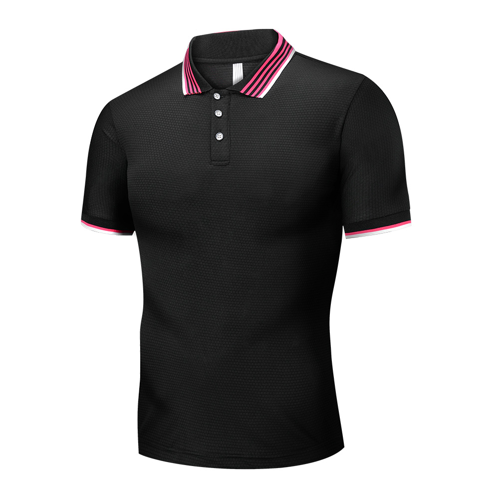 Brand New Men   Polo   Shirt Casual Short Sleeve Cotton Light Compression Shirts Thin Slim Fit Camisa Tops Summer Male Clothes 2019